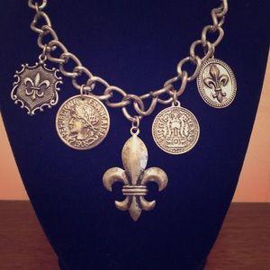 Jewelry - Fleur De Lis charm necklace.